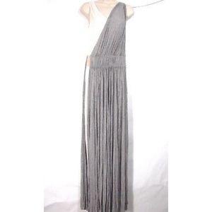 A.L.C. Dress Knit Layered Drape Maxi Belt Goddess